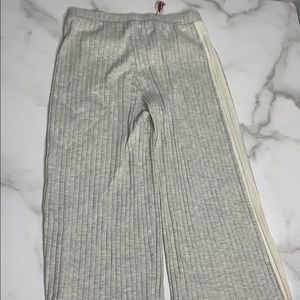 Zara Kids Gray White Ribbed Sweatpants D4 0180